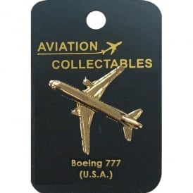 Boeing 777 Gold Pin Badge