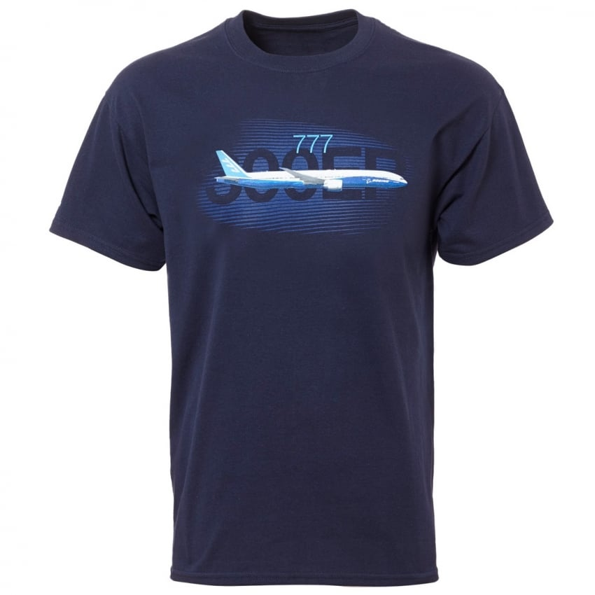 777 Graphic Profile T-shirt in Navy