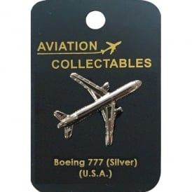 ACI Collectables Boeing 777 Silver Pin Badge