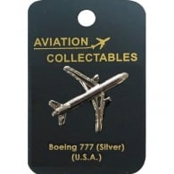 Boeing 777 Silver Pin Badge