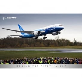 Boeing 787 Dreamliner First Flight Poster