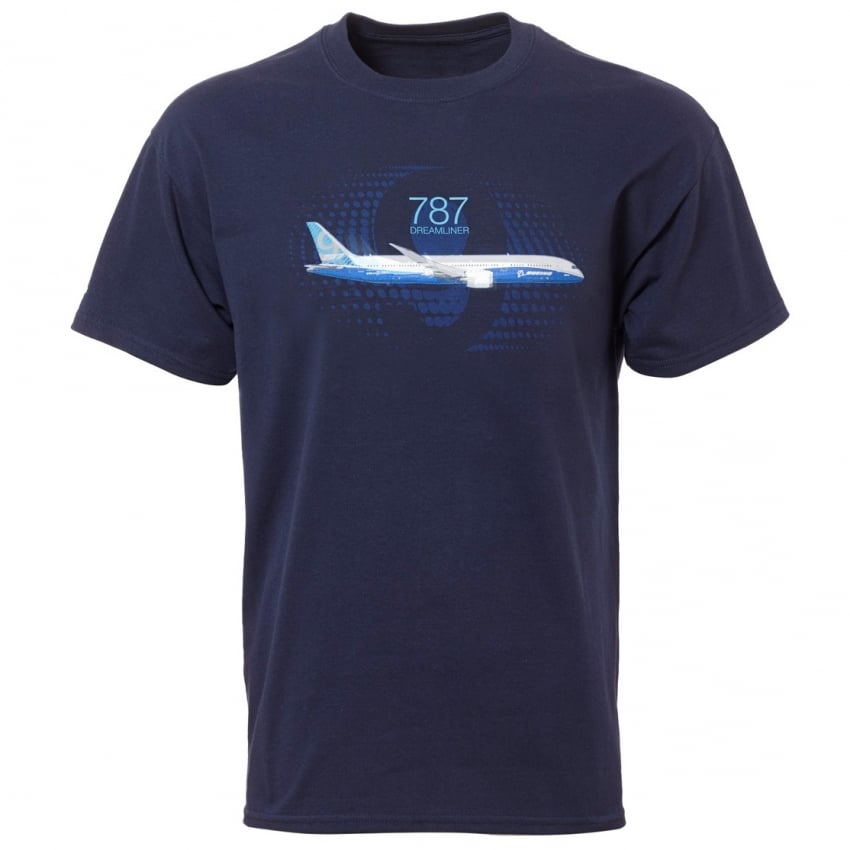 Boeing 787 Dreamliner Graphic Profile T-Shirt -Last stock