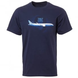 Boeing 787 Dreamliner Graphic Profile T-Shirt