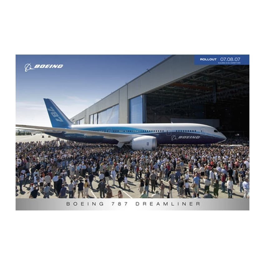 787 Dreamliner Roll Out Poster