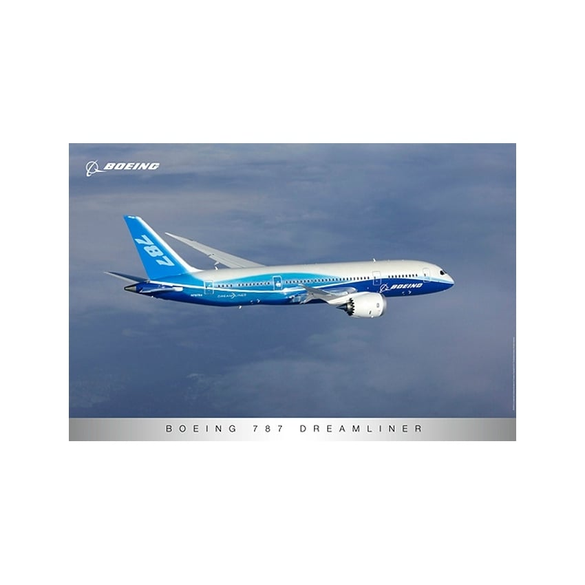 Boeing 787 Dreamliner Side View Poster