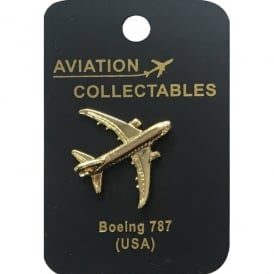 Boeing 787 Gold Pin Badge