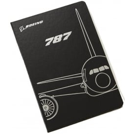 Boeing 787 Midnight Silver Notebook