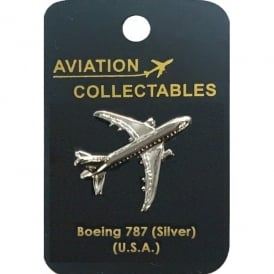 Boeing 787 Silver Pin Badge