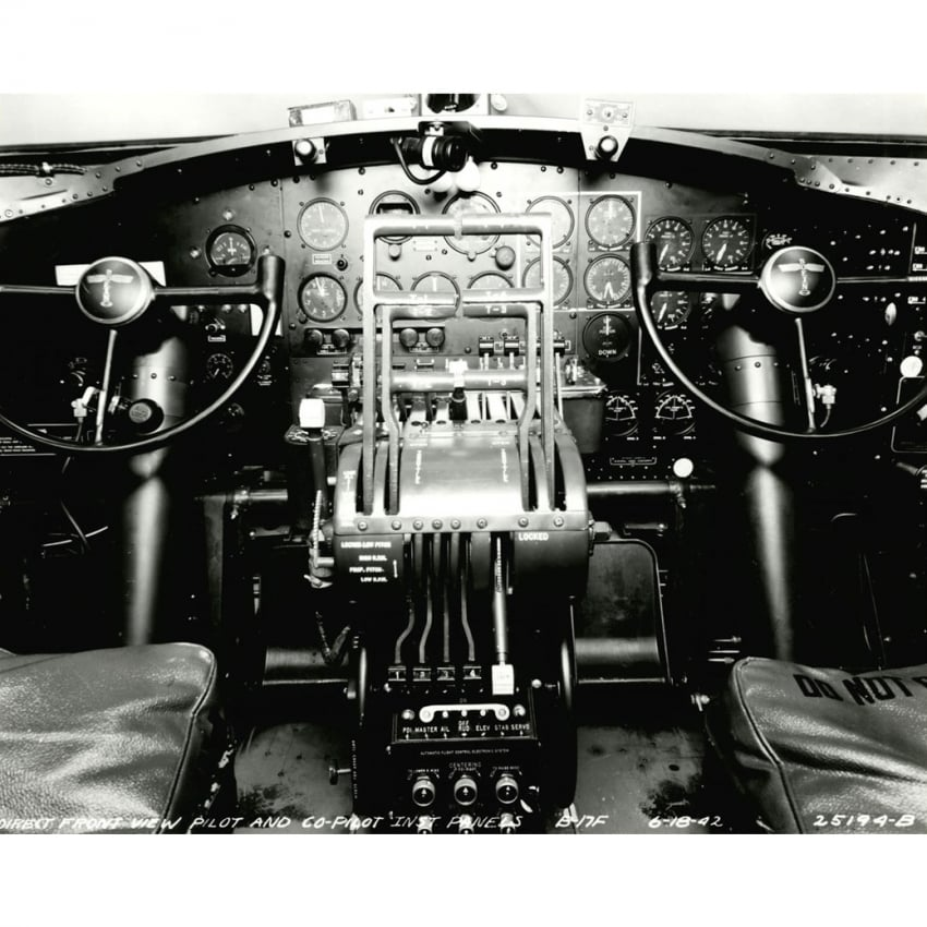 B-17 Cockpit Mounted Print
