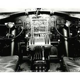 Boeing B-17 Cockpit Mounted Print