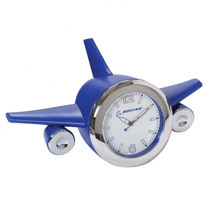 Blue Airplane Desk Clock