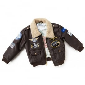 Boeing Childrens Brown Aviator Flying Jacket