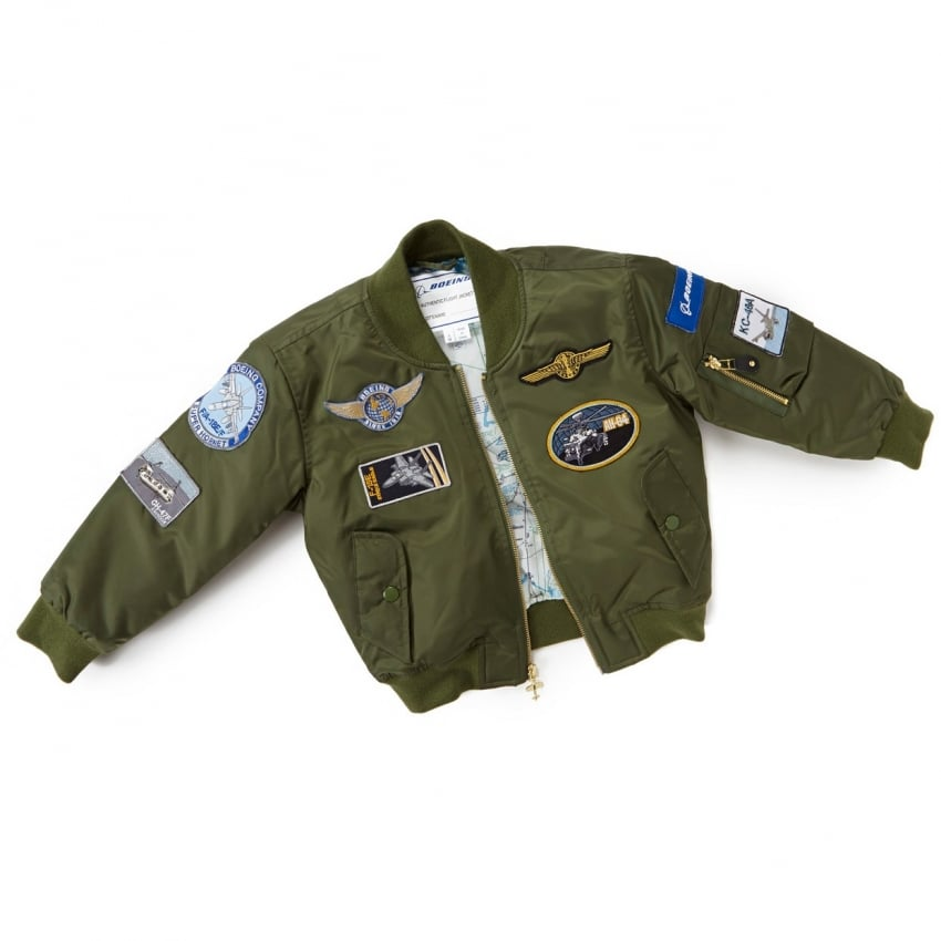 Childrens Green Aviator Flying Jacket