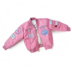 Boeing Childrens Pink Aviator Flying Jacket