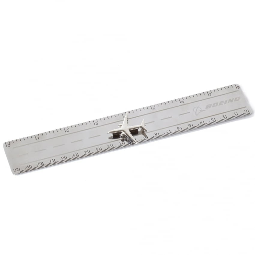 Metal Ruler with 737 Magnet