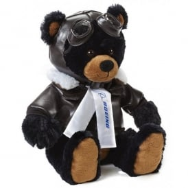 Boeing Pilot Black Teddy Bear