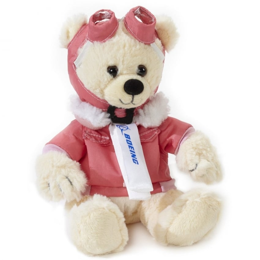 Small White Aviator Pilot Bear