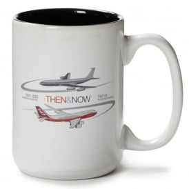 Boeing Then & Now 707-320 IC/747-8 IC Mug