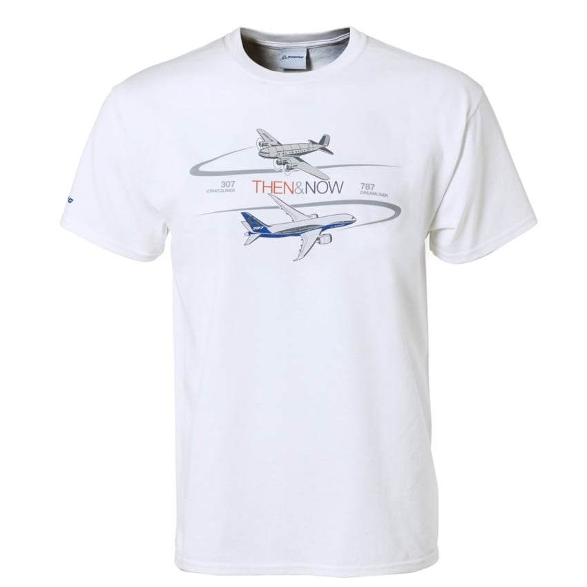 Then & Now 787 Program T-Shirt