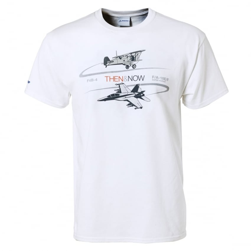 Then & Now F/A-18 Program T-Shirt