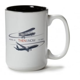 Boeing Then & Now Model 40/737 MAX Mug