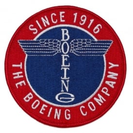 Boeing Totem Round Sew On Patch