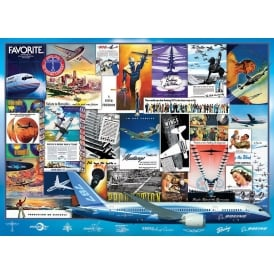 EuroGraphics Boeing Vintage Advertising Jigsaw (1000 Pieces)