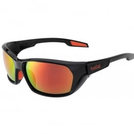 Bolle Aravis Sunglasses - Black - Fire Polarised Lens