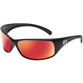 Bolle Recoil Sunglasses - Black - Fire Polarised Lens