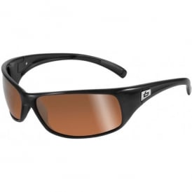 Bolle Recoil Sunglasses - Black - Gold Polarised Lens