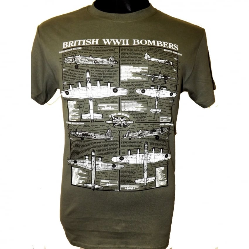 Bombers of WW2 Plan Motif T-Shirt
