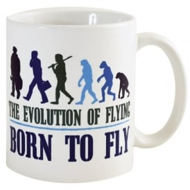 Born To Fly Evolution Of Flying Mug