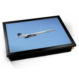 British Airways Concorde Against Blue Skies Cushion Lap Tray