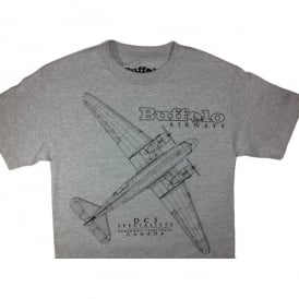 Buffalo Airways DC-3 Draft T-Shirt - Grey