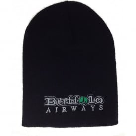 Buffalo Airways Toque Beanie Hat in Black