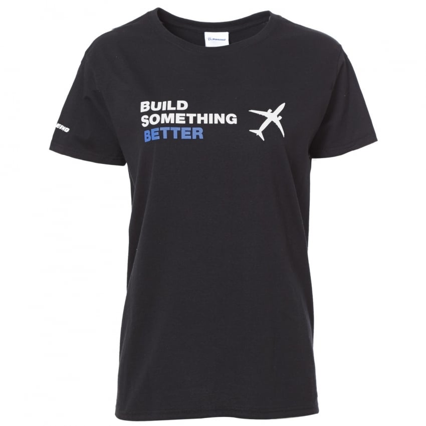 Build Something Better Ladies T-Shirt - Black