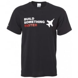 Build Something Faster Mens T-Shirt - Black - Small Only