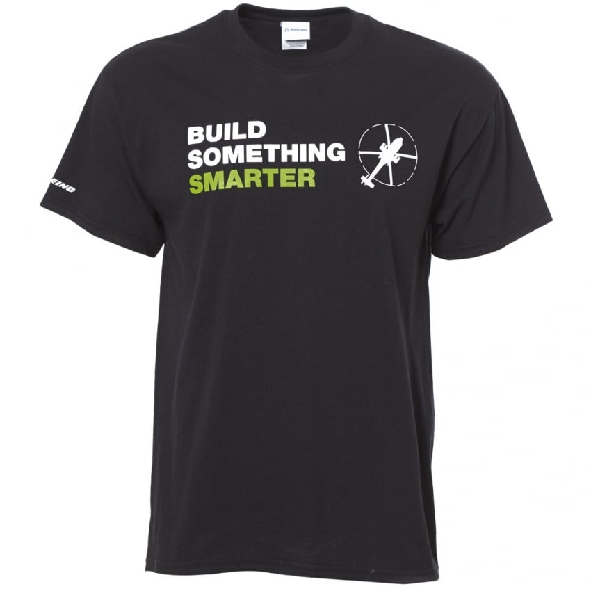 Build Something Smarter Mens T-Shirt - Black