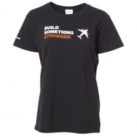 Build Something Stronger Ladies T-Shirt - Black