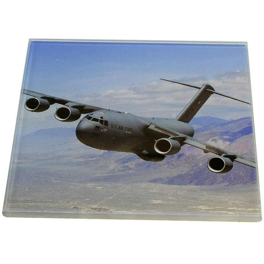 C-5 Galaxy Glass Coaster Single in Box