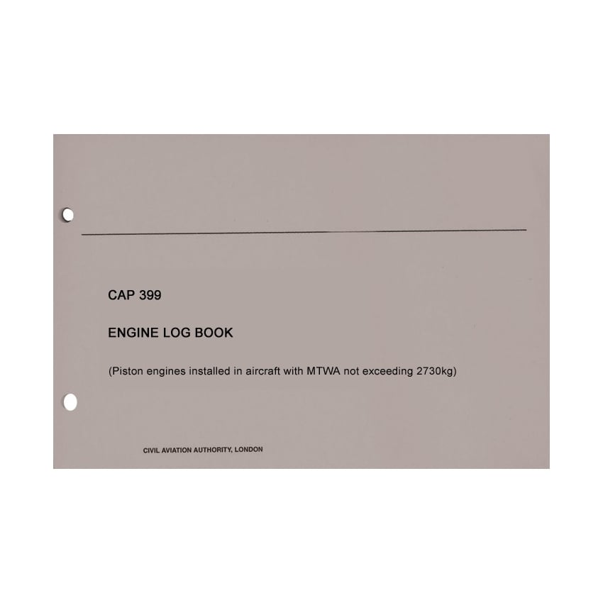 CAA CAP 399 Engine Log Book