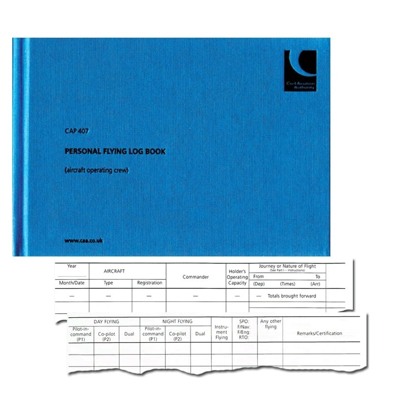 CAP 407 Pilot Flying Logbook