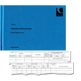 CAA CAP 407 Pilot Flying Logbook