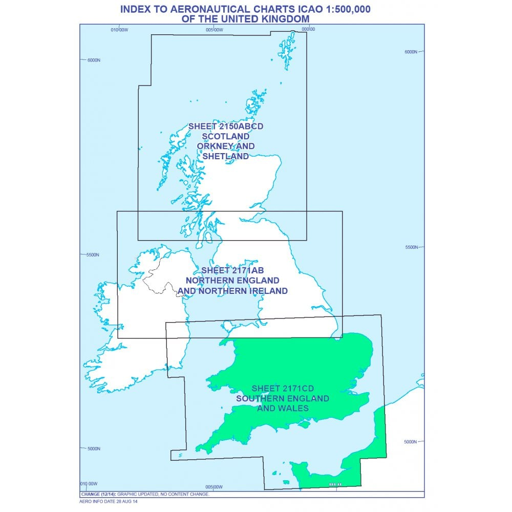 Map Of Southern England And Wales.Caa Southern England And Wales 1 500 000 Ed 44