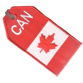 Canada Flag Embroidered Baggage Tag
