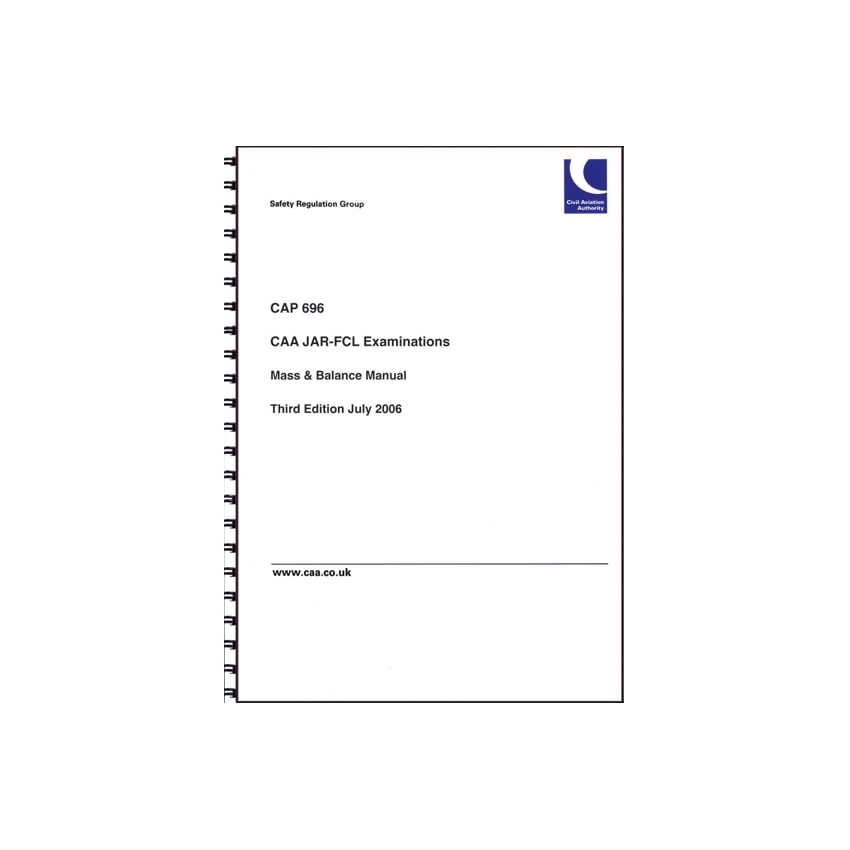 CAP 696 Mass and Balance Manual
