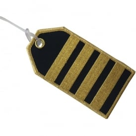 Captain 4 Stripes Embroidered Baggage Tag
