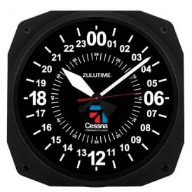Cessna 24Hr Instrument Style Wall Clock - 10