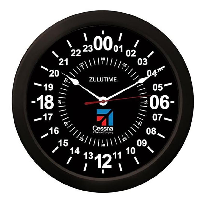 Cessna 24Hr Round Wall Clock - 10