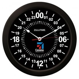 Cessna 24Hr Round Wall Clock - 14